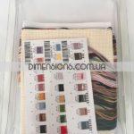 """70-65161 • Набор для вышивания крестом """"Домик с видом"""" • """"Cabin View"""" DIMENSIONS Gold Collection Petites"""