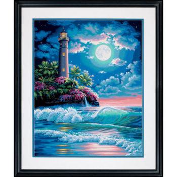 "73-91424 • Набор для рисования красками по номерам ""Маяк в лунном свете"" • ""Lighthouse in Moonlight"" Dimensions Paint Works"