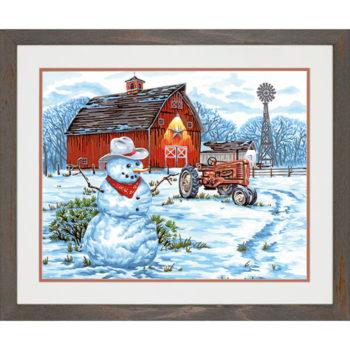"""73-91434 • Набор для рисования красками по номерам """"Деревенский снеговик"""" • """"Country Snowman"""" Dimensions Paint Works"""