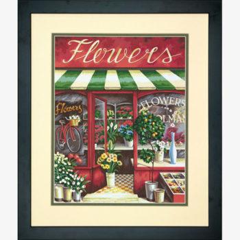 "73-91442 • Набор для рисования красками по номерам ""Цветочный магазин"" • ""Flower Shoppe"" Dimensions Paint Works"