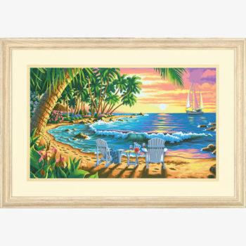 """73-91444 • Набор для рисования красками по номерам """"Пляж на закате"""" • """"Sunset Beach"""" Dimensions Paint Works"""