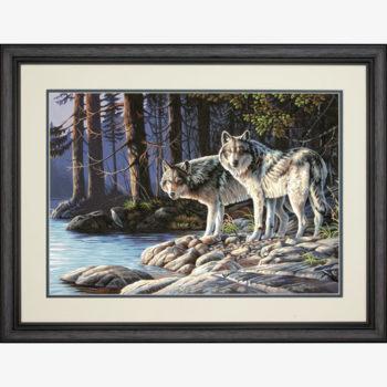 "73-91445 • Набор для рисования красками по номерам ""Серые волки"" • ""Gray Wolves"" Dimensions Paint Works"