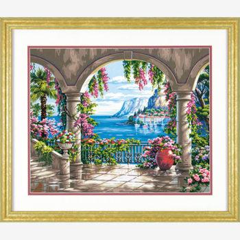 """73-91452 • Набор для рисования красками по номерам """"Цветочный дворик"""" • """"Floral Patio"""" Dimensions Paint Works"""