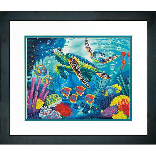 """73-91454 • Набор для рисования красками по номерам """"Морские черепахи"""" • """"Sea Turtles"""" Dimensions Paint Works"""