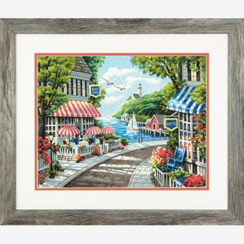 "73-91455 • Набор для рисования красками по номерам ""Кафе у моря"" • ""Cafe by the Sea"" Dimensions Paint Works"
