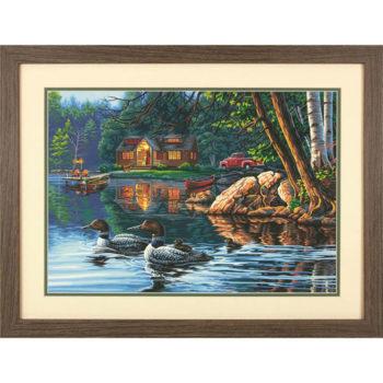 """73-91474 • Набор для рисования красками по номерам """"Пристань"""" • """"Echo Bay"""" Dimensions Paint Works"""