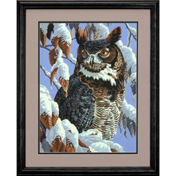 "73-91476 • Набор для рисования красками по номерам ""Зимний охотник. Сова"" • ""Winter Watch"" Dimensions Paint Works"