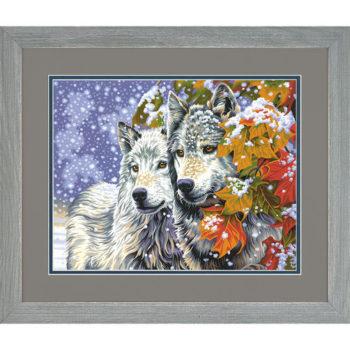 """73-91489 • Набор для рисования красками по номерам """"Ранний снег"""" • """"Early Snowfall"""" Dimensions Paint Works"""
