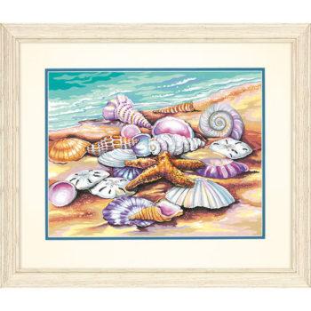 """73-91526 • Набор для рисования красками по номерам """"Ракушки"""" • """"Shells"""" Dimensions Paint Works"""