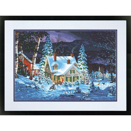 """73-91614 • Набор для рисования красками по номерам """"Зимняя тишина"""" • """"Winter's Hush"""" Dimensions Paint Works"""