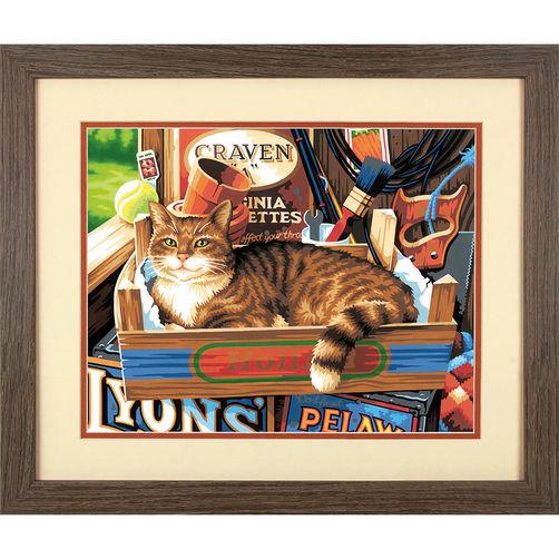 73-91655 Набор для рисования красками по номерам «Кошачьи знаки» • «Cat Signs» Dimensions Paint Works