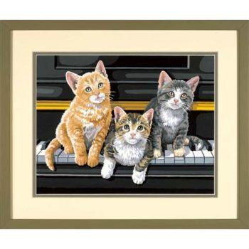 """91144 • Набор для рисования красками по номерам """"Музыкальное трио"""" • """"Musical Trio"""" Dimensions Paint Works"""
