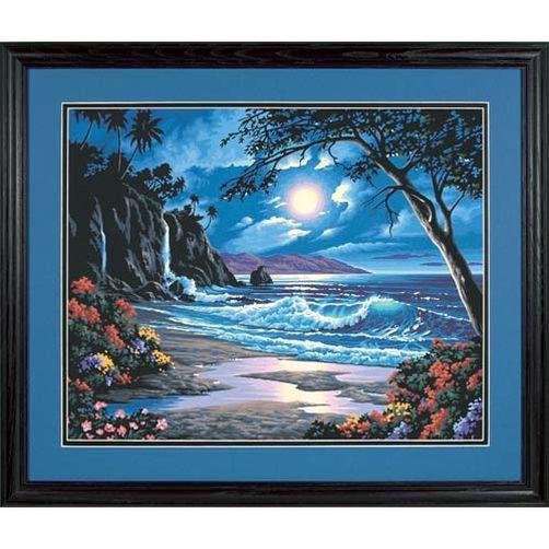 91185 Набор для рисования красками по номерам «Лунный рай» • «Moonlit Paradise» Dimensions Paint Works