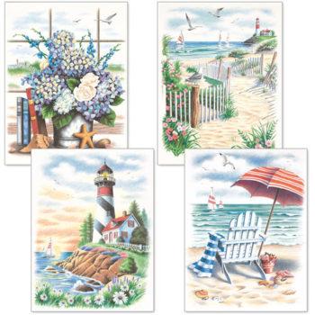"""91331 • Набор для рисования карандашами по номерам """"Пляж"""" • """"Beach Scenes"""" Dimensions Paint Works"""