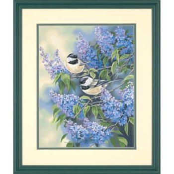"91361 • Набор для рисования красками по номерам ""Птицы и сирень"" • ""Chickadees and Lilacs"" Dimensions Paint Works"