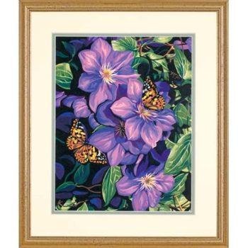"91403 • Набор для рисования красками по номерам ""Клематисы и бабочки"" • ""Clematis & Butterflies"" Dimensions Paint Works"