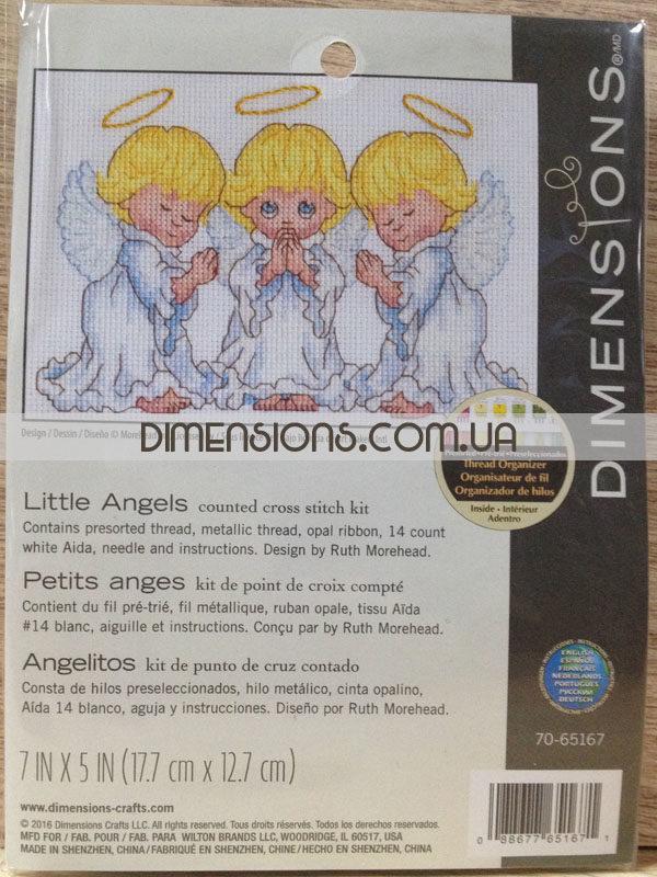 """70-65167 Набор для вышивания крестом """"Маленькие Ангелы"""" • """"Little Angels"""" DIMENSIONS"""