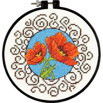 """72-73825 Набор для вышивания крестом """"Маки"""" • """"Poppies"""" DIMENSIONS"""
