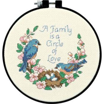 """72900 Набор для вышивания крестом """"Семейная любовь"""" • """"Family Love"""" DIMENSIONS"""