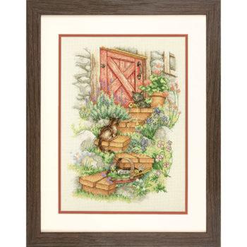 70-35362 Набор для вышивания крестом Садовые ступеньки Garden Steps DIMENSIONS