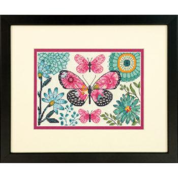 "70-65178 Набор для вышивания крестом ""Мечта бабочки"" • ""Butterfly Dream"" DIMENSIONS"