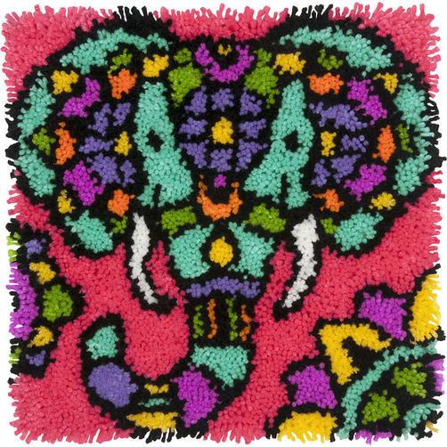 72-74998 Набор для ковровой техники «Красочный слон//Colorful Elephant» DIMENSIONS