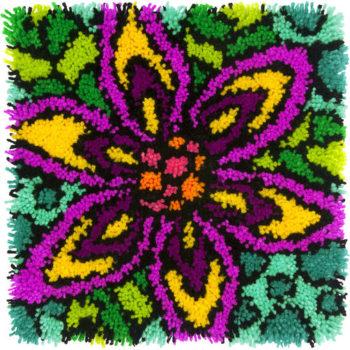 """72-74999 Набор для ковровой техники """"Красочный цветок//Colorful Flower"""" DIMENSIONS"""