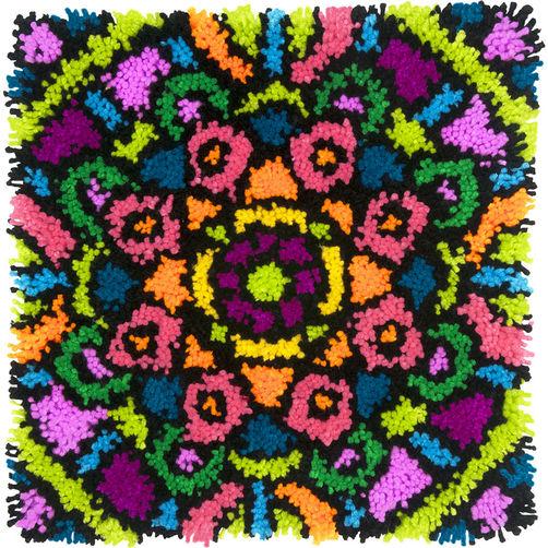 72-75000 Набор для ковровой техники «Красочная Мандала//Colorful Mandala» DIMENSIONS