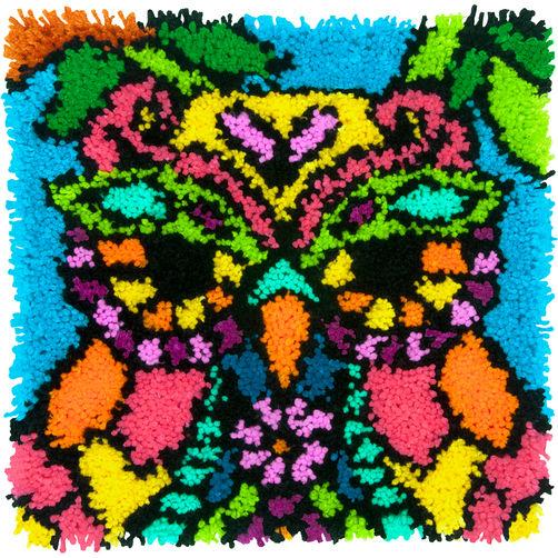 72-75001 Набор для ковровой техники «Красочная Сова//Colorful Owl» DIMENSIONS