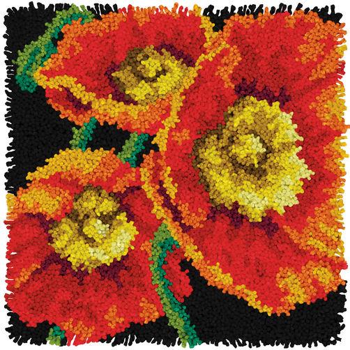 """72-75205 Набор для ковровой техники """"Маки//Poppies"""" DIMENSIONS"""