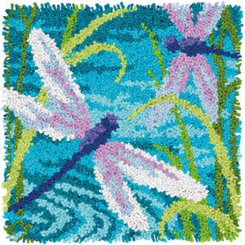 """72-75206 Набор для ковровой техники """"Стрекозы//Dragonflies"""" DIMENSIONS"""