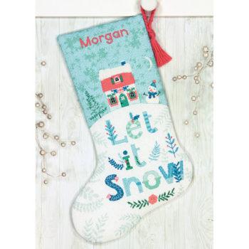 """70-08975 Набор для вышивания крестом """"Holiday Home Stocking//Праздничный дом"""" DIMENSIONS"""