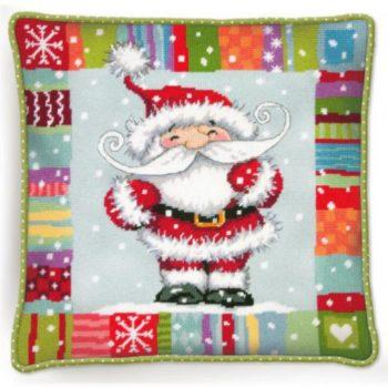 "71-09157 Набор для вышивания подушки — гобелен • ""Санта с узором"" DIMENSIONS"