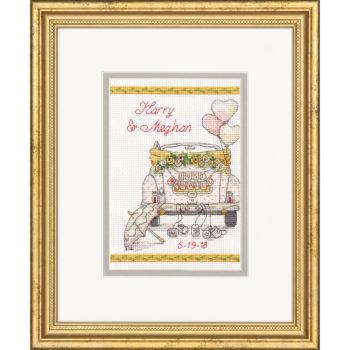 """70-65185 Набор для вышивания крестом """"День свадьбы//Wedding Day"""" DIMENSIONS"""