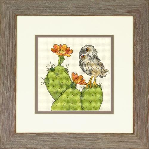 """70-65184 Набор для вышивания крестом """"Колючая сова//Prickly Owl"""" DIMENSIONS"""