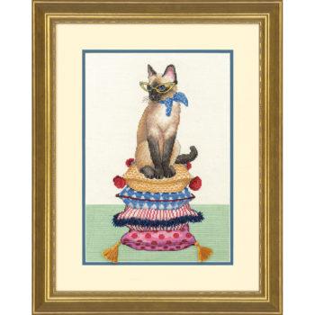 """70-35367 Набор для вышивания крестом """"Леди-кошка//Cat Lady"""" DIMENSIONS"""