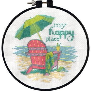 """72-75678 Набор для вышивания крестом """"Мое счастливое место//My Happy Place"""" DIMENSIONS"""