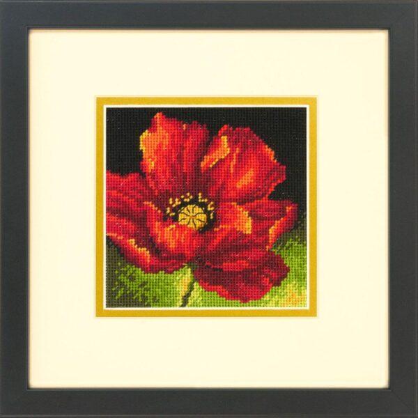 """71-07246 Набор для вышивания крестом Red Poppy • Красный мак"""" DIMENSIONS"""
