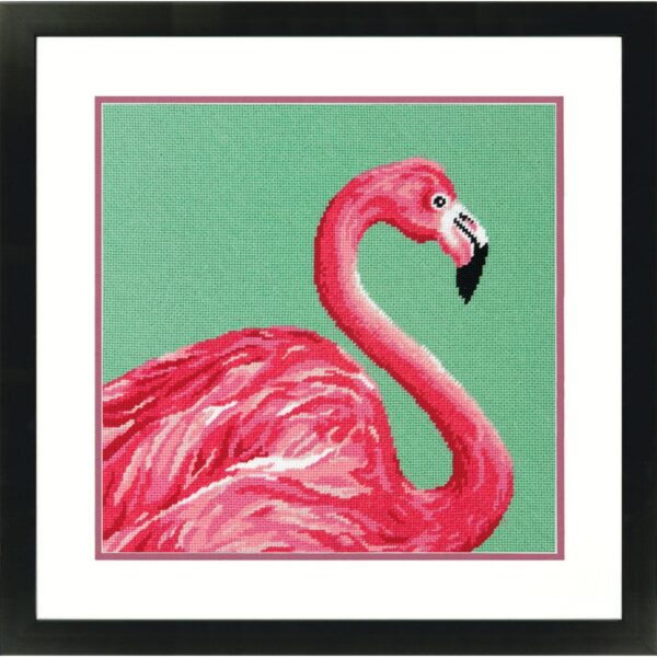 "71-20086 Набор для вышивки (гобелен) "" Pink Flamingo • Розовый фламинго"" DIMENSIONS"