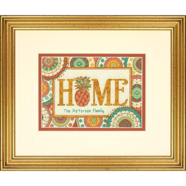 """70-65179 Набор для вышивания крестом """" Pineapple Home • Ананасовый дом"""" DIMENSIONS"""