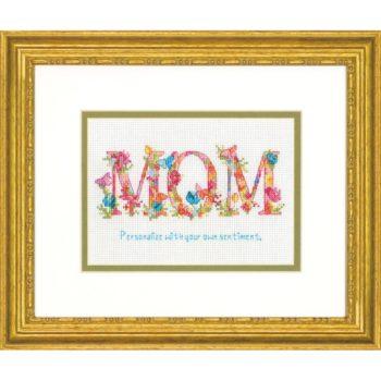 """70-65180 Набор для вышивания крестом """" Mom • Мама"""" DIMENSIONS"""