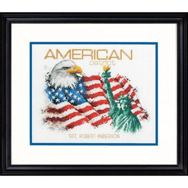 """70-35363 Набор для вышивания крестом """" American Patriot • Американский патриот"""" DIMENSIONS"""