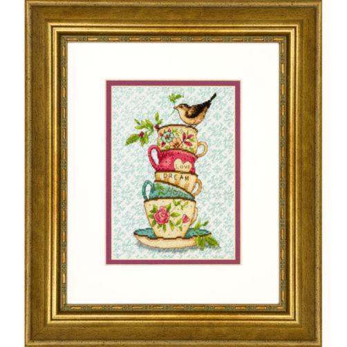 70-65171 Набор для вышивания крестом «Stacked Tea Cups • Пирамида чашек» DIMENSIONS