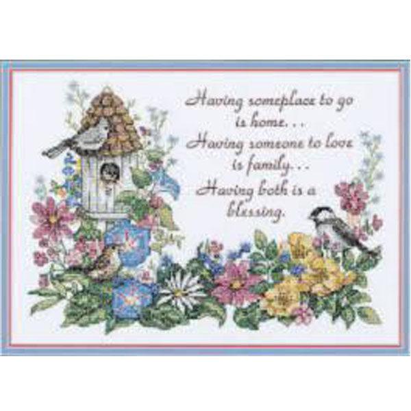 3160 Набор для вышивания крестом «Flowery Verse • Цветочная поэзия» DIMENSIONS