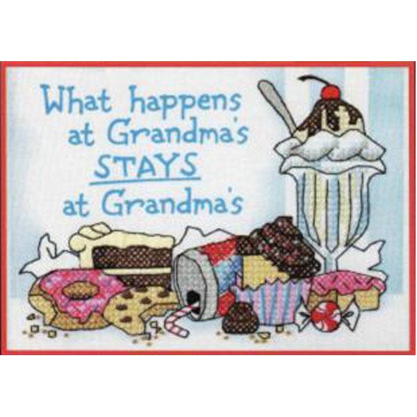 65033 Набор для вышивания крестом «What Happens at Grandmas • Что происходит у бабушки» DIMENSIONS
