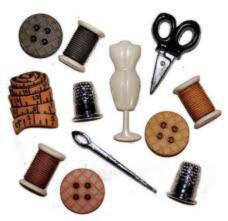 596 Декоративные пуговицы. Швейные принадлежности | Dress it up США