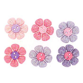 8826 Декоративные пуговицы. Блестящие цветочки | Dress it up США