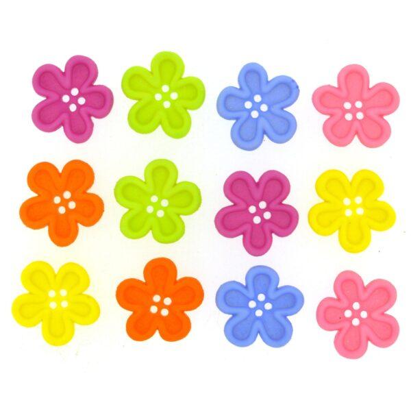 8986 Декоративные пуговицы. Цветы | Dress it up США