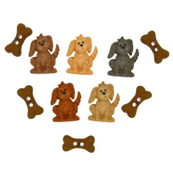 8989 Декоративные пуговицы. Собаки и косточки | Dress it up США