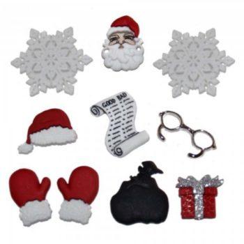 1426 Декоративные пуговицы. Ожидание Санта Клауса | Dress it up США
